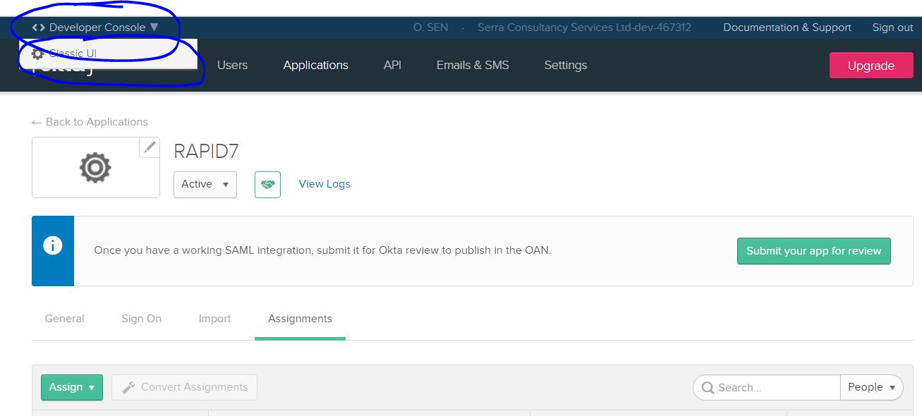Integrating Rapid7 InsightVM and Nexpose with Okta – Serra