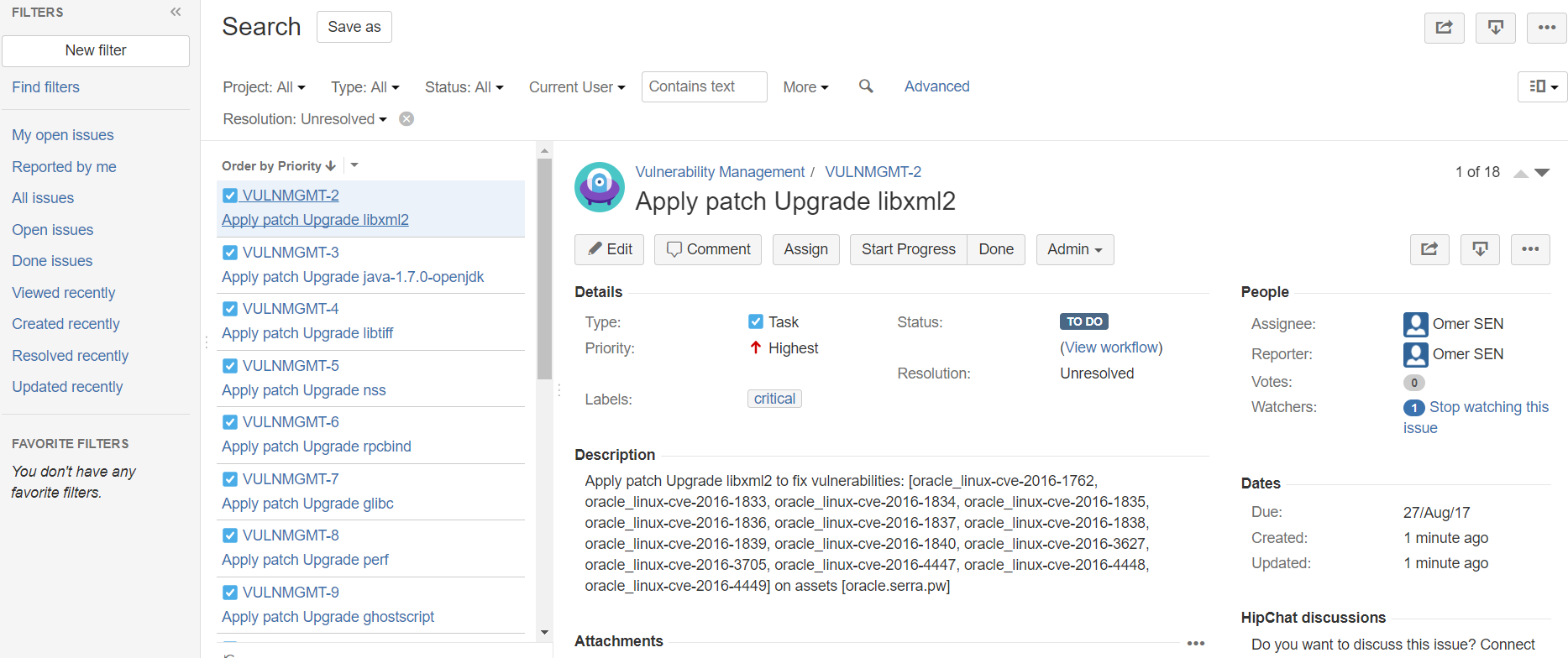 Rapid7 InsightVM Jira Integration for Remediation Projects